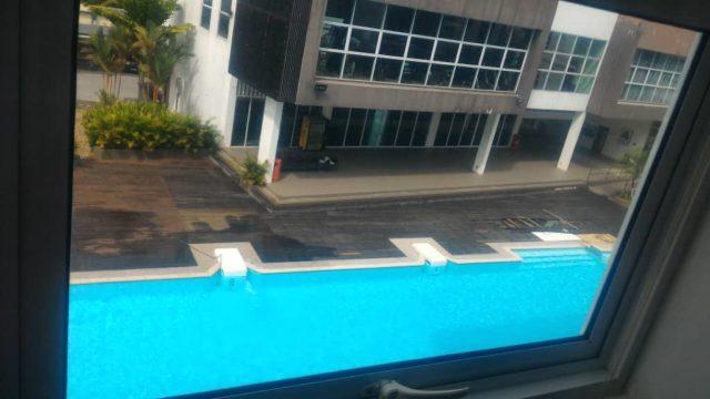 Master Room View onto Pool