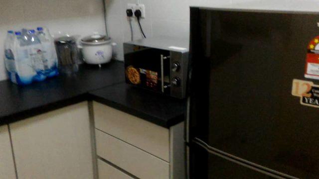 Kitchen Fridge Microwave