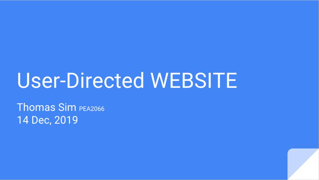 User-Directed Websites
