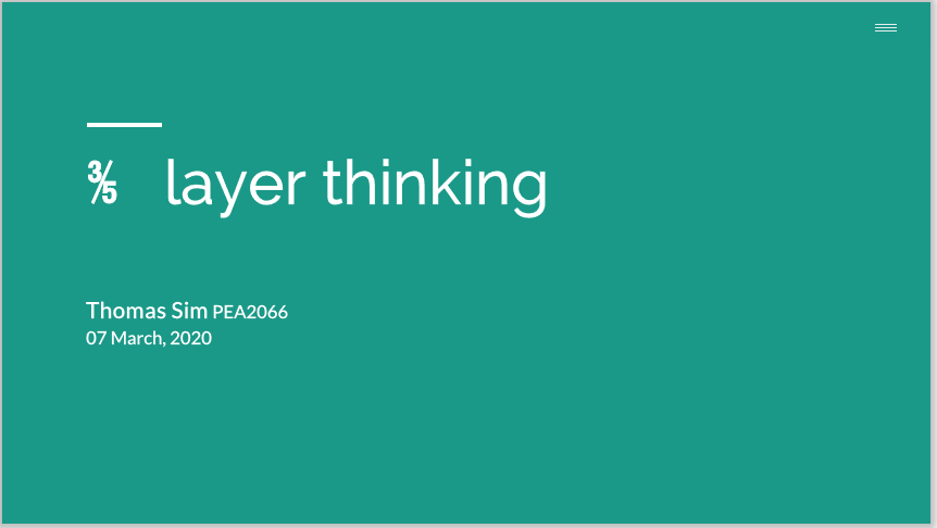 015 3-5 Layer Thinking