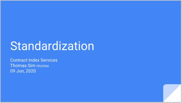 018 Standardization